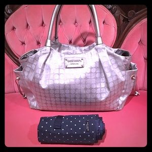 Kate Spade diaper bag w/ new changing pad, sliver